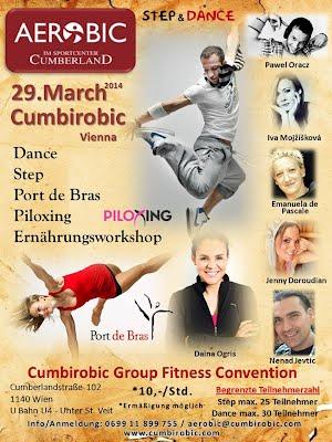 für weitere Informationen auf Bild drauf klicken - Cumbirobic aerobic und zumba in wien group fitness convention